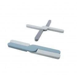 opvouwbare panonderzetter uit silicone grijs of blauw 20x3.2x1.1cm