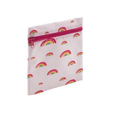 herbruikbaar boterhamzakje met rits regenboog 17.8x20.3cm  Dotz