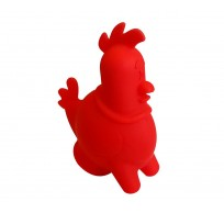 Ouch eischeider uit silicone kip rood