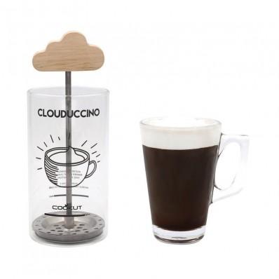 Clouduccino cappuccino melkopschuimer 7x7x18cm