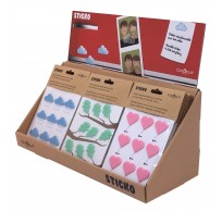 Sticko stickers uit silicone hart, wolk of blad