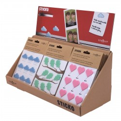 Sticko stickers uit silicone hart, wolk of blad   Cookut
