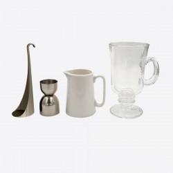 Ico 4-delige set voor Irish Coffee in cadeauverpakking