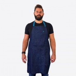Apron Jam denim keukenschort blauw 85cm  Cookut