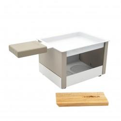 Yeti opvouwbaar individueel theelicht racletteset grijs 15x8x6.5cm  Cookut