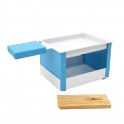 Yeti opvouwbaar individueel theelicht racletteset blauw 15x8x6.5cm  Cookut