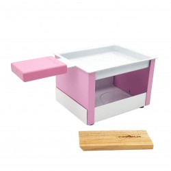 Yeti opvouwbaar individueel theelicht racletteset roze 15x8x6.5cm  Cookut
