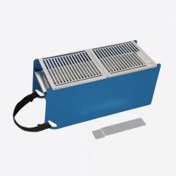 Yaki tafelbarbecue uit metaal blauw 41x18x17cm