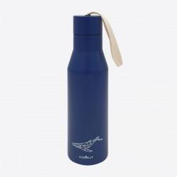 dubbelwandige isoleerfles uit rvs donkerblauw walvis 500ml  Cookut
