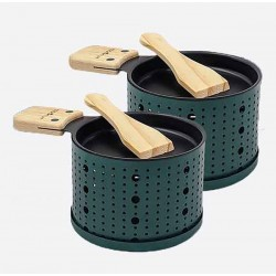 Lumi 2 individuele theelicht raclettesets groen 10x15x6.2cm  Cookut