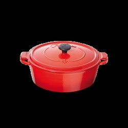Ovale Cocotte 33cm Rood