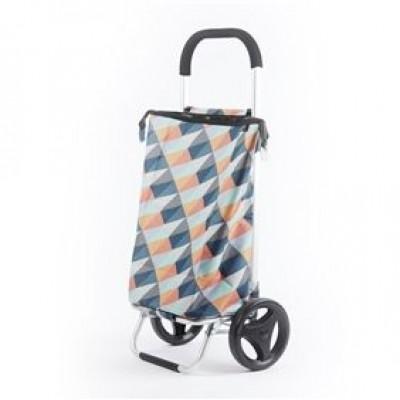 shopping trolley geometric heldere kleuren 38L