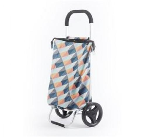 Shopping trolley geometric heldere kleuren 38L  Rixx