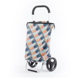 Shopping trolley geometric pastelkleuren 38L