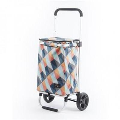 shopping trolley geometric heldere kleuren 30L