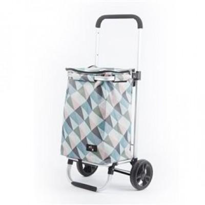 shopping trolley geometric pastelkleuren 30L