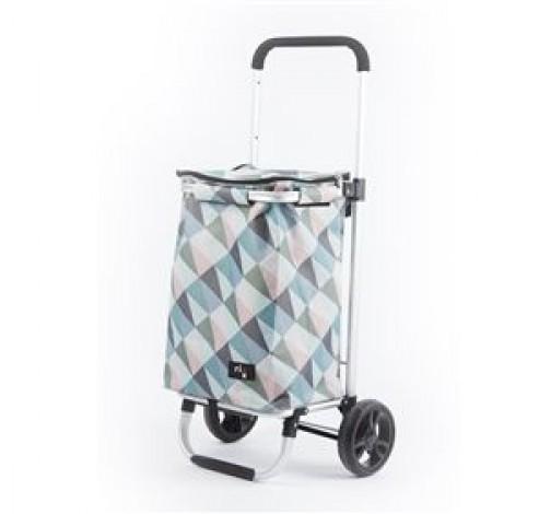 Shopping trolley geometric pastelkleuren 30L  Rixx