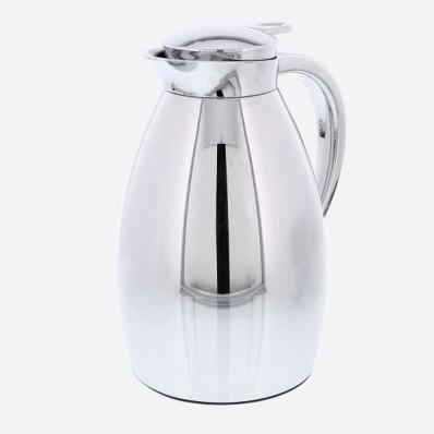 isoleerkan met glazen binnenfles zilvergrijs 1L