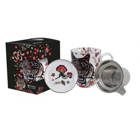 Magical Tiger Mug w/Strainer 16694 1/12  Tokyo Design Studio