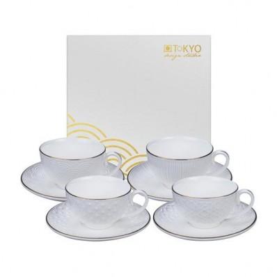 Nippon White Cup&Saucer Set/4, 100ml, giftbox /6