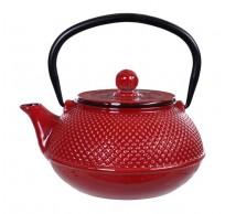 Arare Teapot 0.80 ltr, outside enameled, Blue Sea