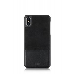 iPhone Xs/X selected hoesje leder/suede zwart