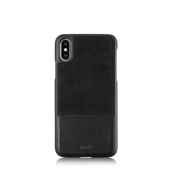 Holdit iPhone Xs/X selected hoesje leder/suede zwart