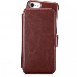 iPhone SE (2020)/8/7/6 wallet hoesje magnetisch berlin donker bruin  Holdit