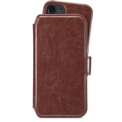 iPhone 12 Mini wallet hoesje magnetisch berlin donker bruin Holdit