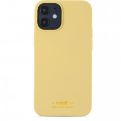 iPhone 12 Mini hoesje silicone geel Holdit