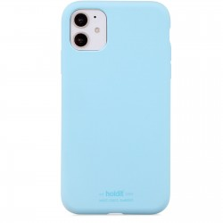 iPhone 11 hoesje silicone lichtblauw Holdit