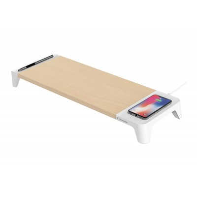 Desktop stand draadloos laden hout/wit  Xtreme Mac