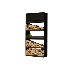 Wood Storage Black