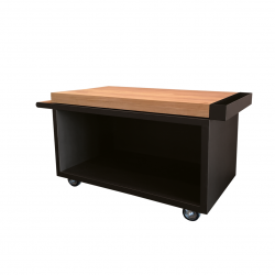 Mise en Place Table Pro 135 Teak Wood Zwart