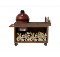 Kamado Table Pro Corten Teak Wood KJ