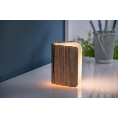 Mini Smart Book Light Walnut LED  Gingko