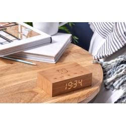Flip Click clock natural cherry  Gingko