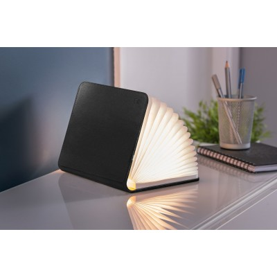Mini Smart Book Light Leder Black  Gingko