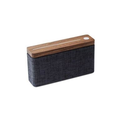 HiFi Square Bluetooth Speaker  natural walnut wood