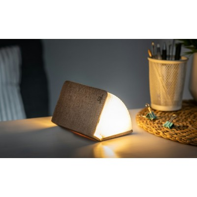 Mini Smart Book Light Linen Coffee Brown  Gingko