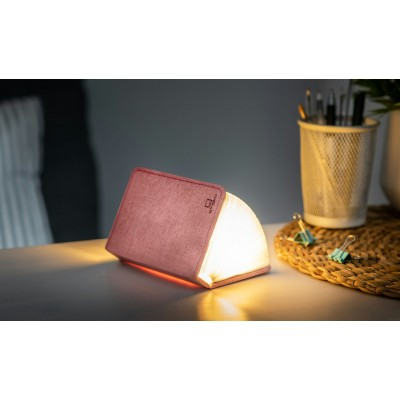 Mini Smart Book Light Linen Blush Pink  Gingko