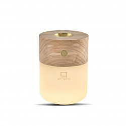 Smart Diffuser Lamp Natural white ash wood  Gingko