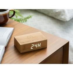 Flip Click clock natural Bamboo  Gingko