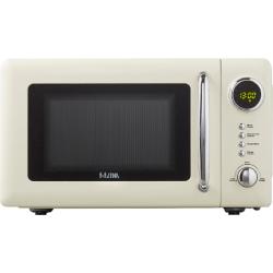 Micro-ondes Retro, 20 L, Commande électronique, Beige