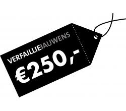 Cadeaubon van 250 € Cadeaubon