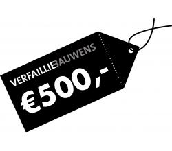 Cadeaubon van 500 € Cadeaubon