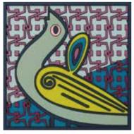 Coaster BIRDS OF PARADISE, blue, 9x9cm, 2pcs