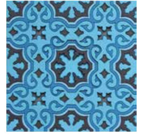 Coaster BLUE'S 1, 9x9cm, 2pcs  Images d'Orient