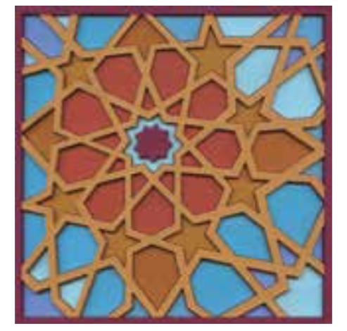 Coaster MOUCHARABIEH M3, 9x9cm, 2pcs  Images d'Orient