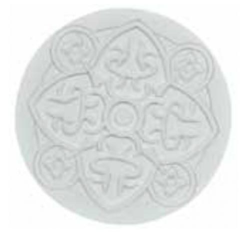 Coaster URBAN 01, White, 11cm  Images d'Orient